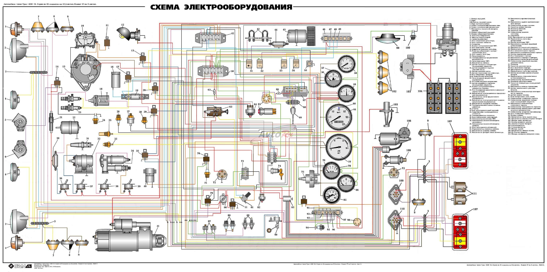 Схема электрооборудования т-150 с двигателем ямз